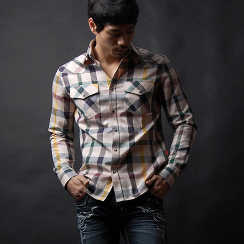 Crest plaid beige
