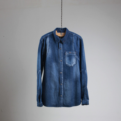 Denim natural washing shirts